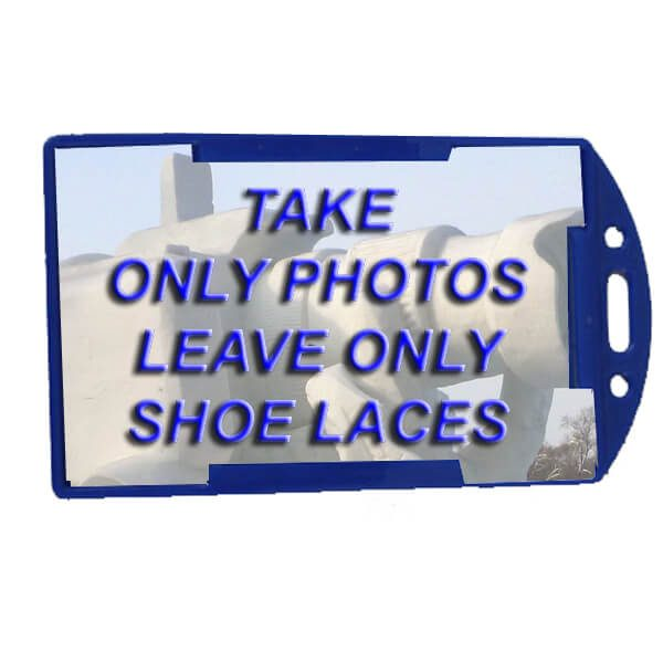 take only photos luggage tags